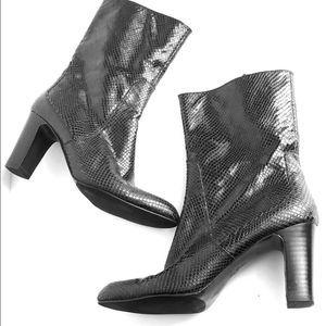 Cole Haan 8.5 Snakeskin Heeled boots Black 8 1/2